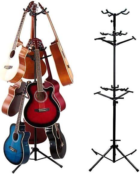 Guitarra Soporte Nine/múltiple bicapa trípode Ajustable Soporte de ...