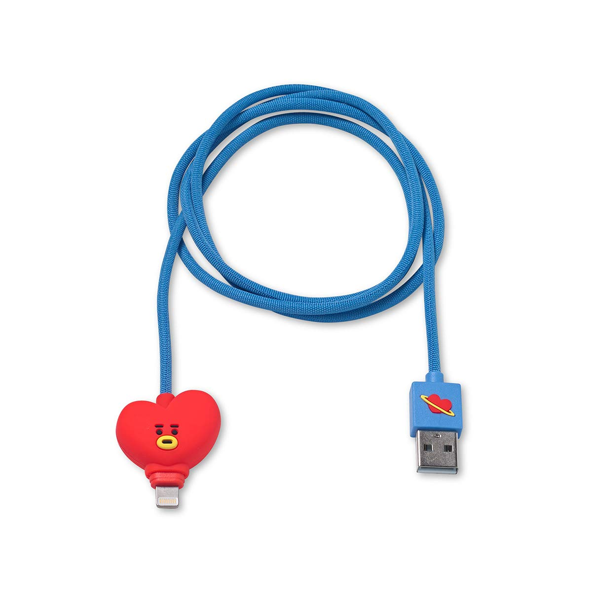 BT21 Official Merchandise by Line Friends - TATA Charger Cable Compatible for iPhone, Red