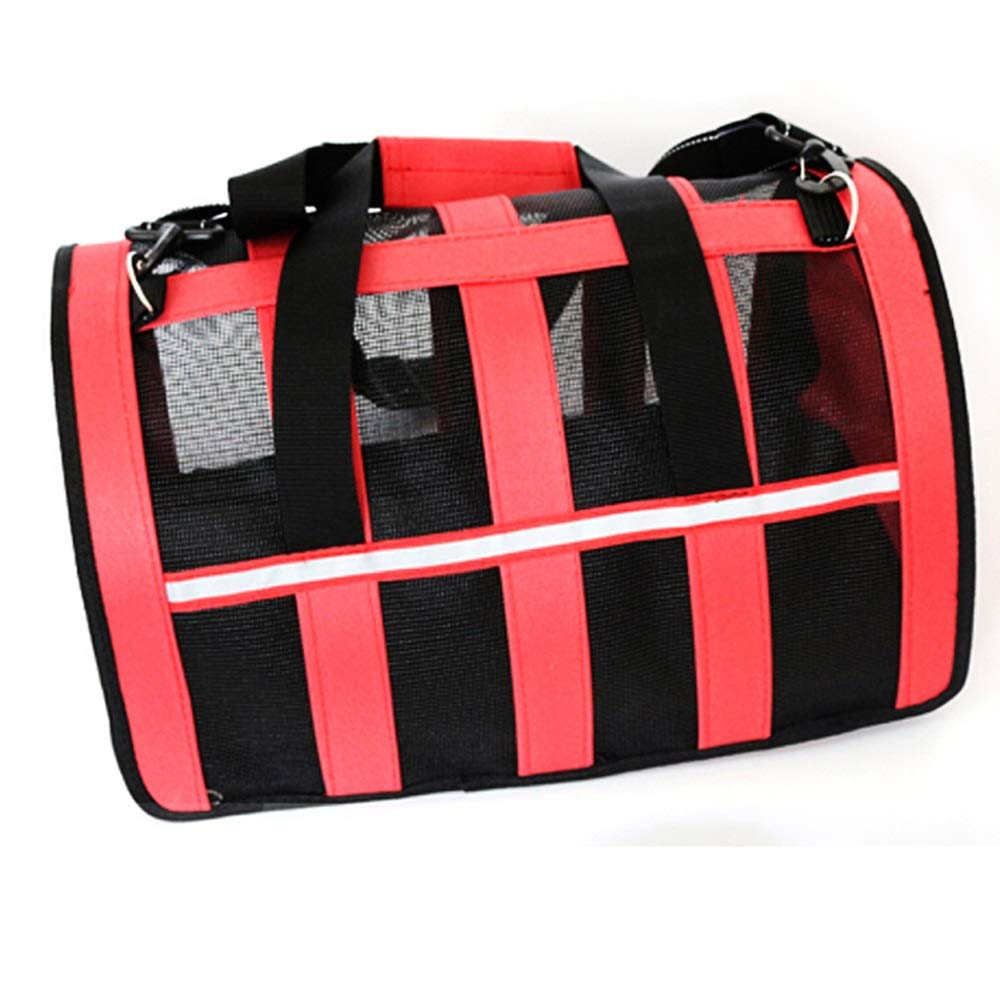 Red C Red C Pet Bag Out Bag Travel Cat Bag Dog Bag Cat Bag Cage Dog Backpack (color   Red, Size   C)