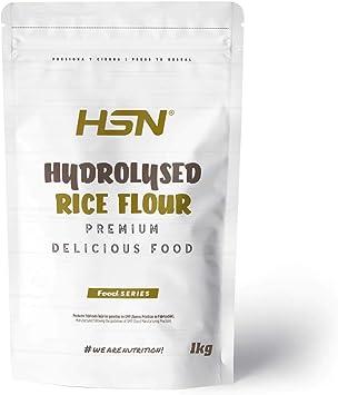 Harina de Arroz Hidrolizada de HSN   Hydrolysed Rice Flour   Carbohidratos 100% Natural   Excelente Digestión + Textura Extra-Suave   Vegana, Sin ...