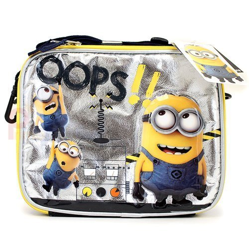 (Despicable Me 2 School Lunch Bag Minions Insulated Box -Oops! by)