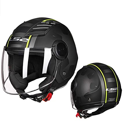 Amazon.es: Casco de Moto para Hombre 3/4 Open Face Airflow Jet ...