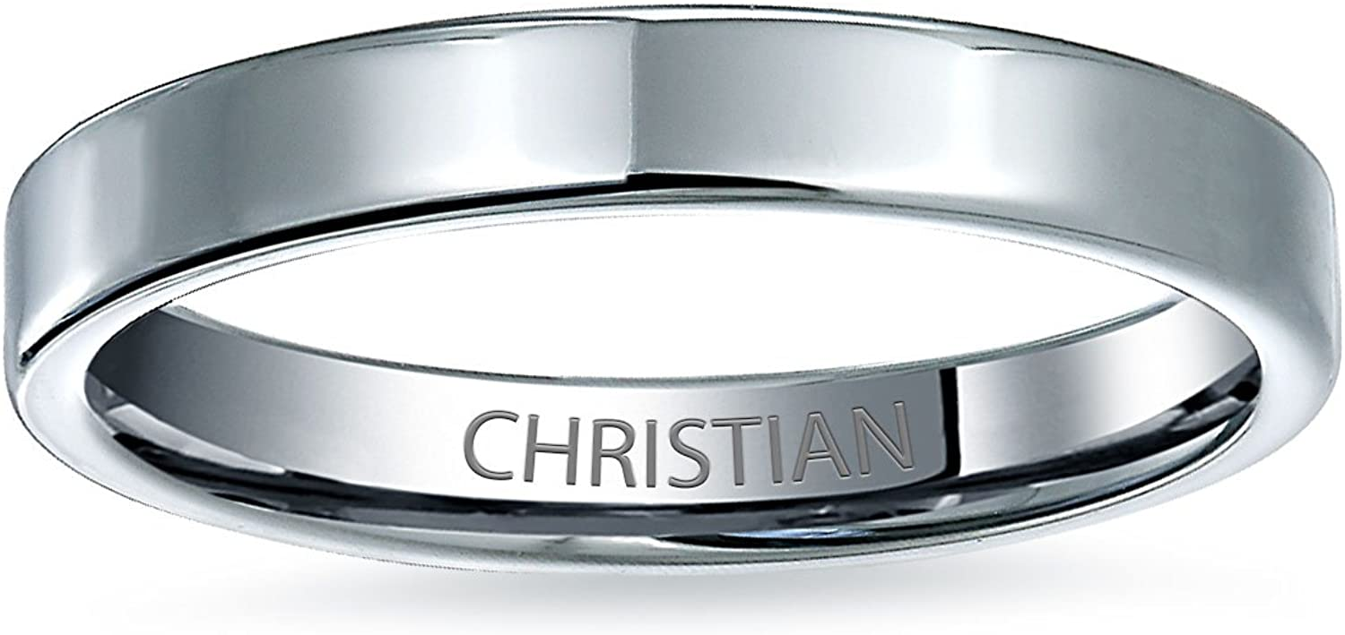 Plain Simple Thin Cigar Flat Couples Titanium Wedding Band Rings/for/Men for Women Polished Silver Tone Comfort Fit 3MM