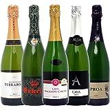 本格シャンパン製法の泡5本セット((W0P513SE))(750mlx5本ワインセット)