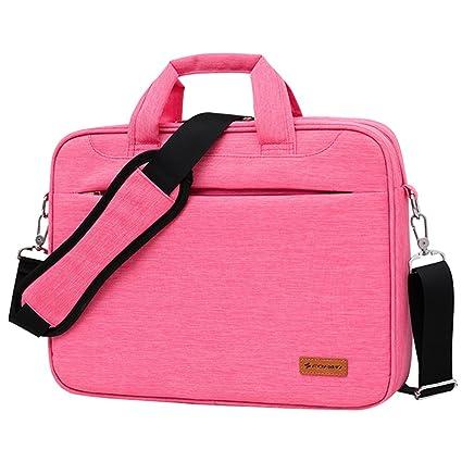 Awland Bolso bandolera para ordenador portátil de 14 pulgadas, color rosa