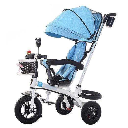 Bicicleta de Triciclo de Cochecito de bebé único para niños de 1-6 ...