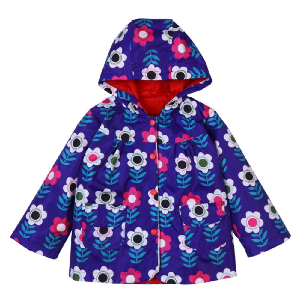 Wasserdicht Regenmantel Outdoor Bekleidung mit Kapuze LIUONEXI Kinder M/ädchen Einhorn druckt Regenjacke Windjacke