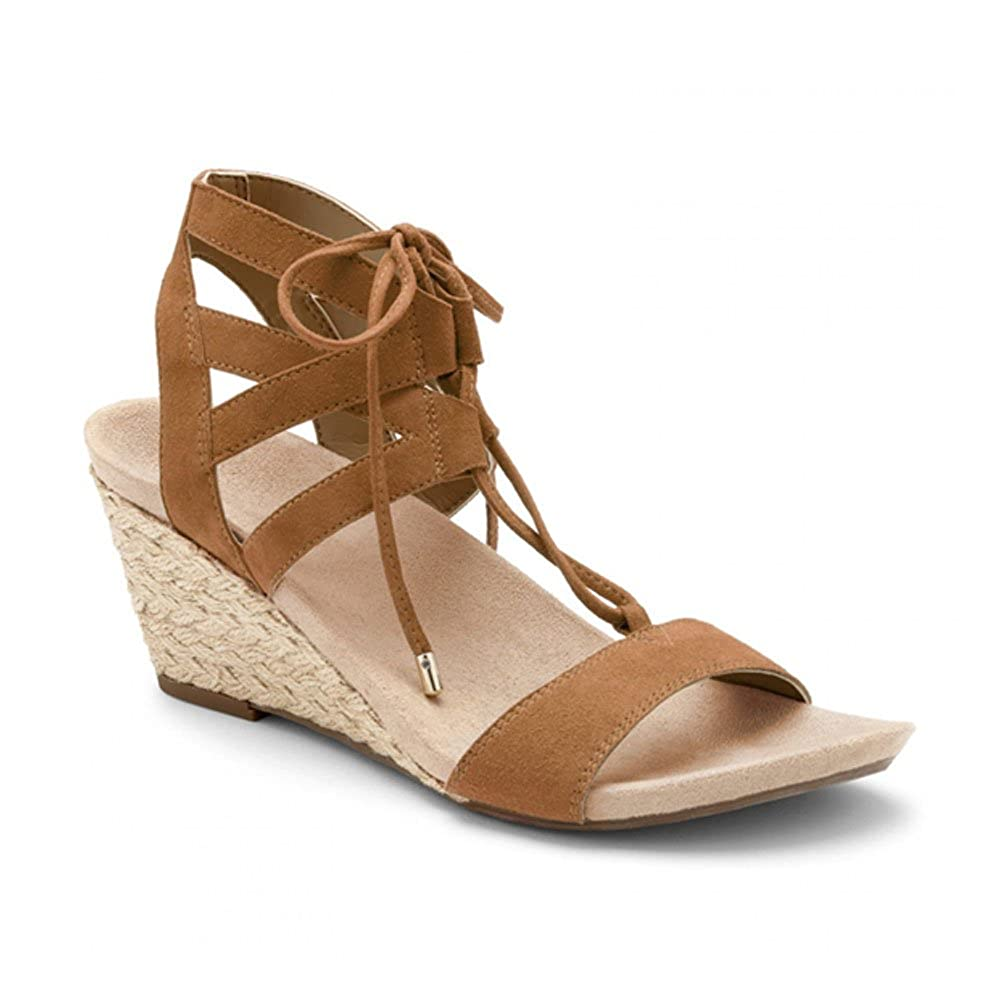 Vionic Women's Noble Tansy Caramel Suede Wedge B01HOY9W1M Parent