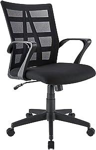 Brenton Studio Jaxby Mesh/Fabric Mid-Back Task Chair, Black