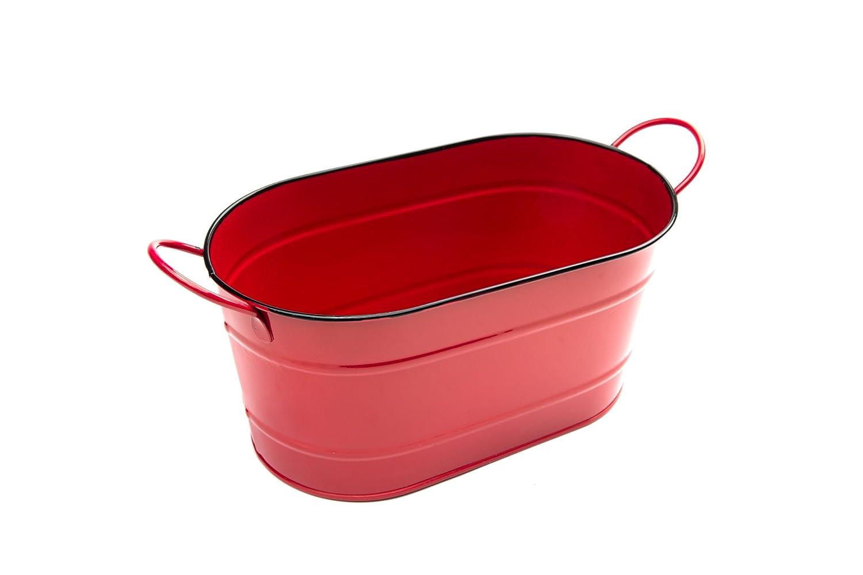 Nantucket Seafood 4511 Red Serving Tub//Ice Bucket Iron