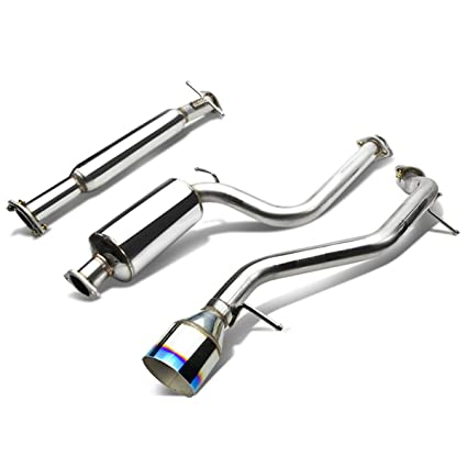 For Ford Focus Catback Exhaust System 4 5 Inches Burn Tip Muffler Zx3 Zx5 Zetec 2 0l 2 3l