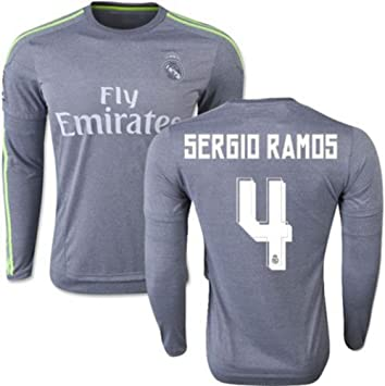 fe7ba332136 Sergio Ramos  4 Real Madrid CF Jersey 2015-16 Away   Home Jersey Soccer  Jersey