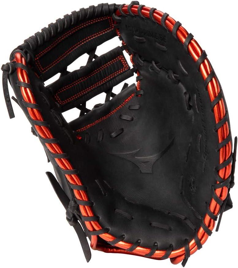 Black-RED Right Hand Throw Mizuno GXF50PSE8 MVP Prime SE Baseball First Base Mitt 12.5