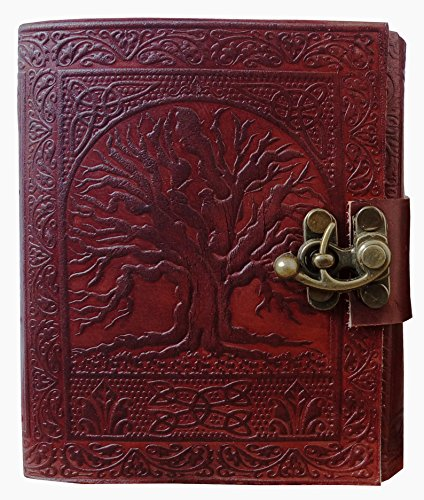 Gbag (T) Tree of Life Journal Leather With C-Lock Notebook Gifts For Men Women (Tree Of Life Journal Lock)