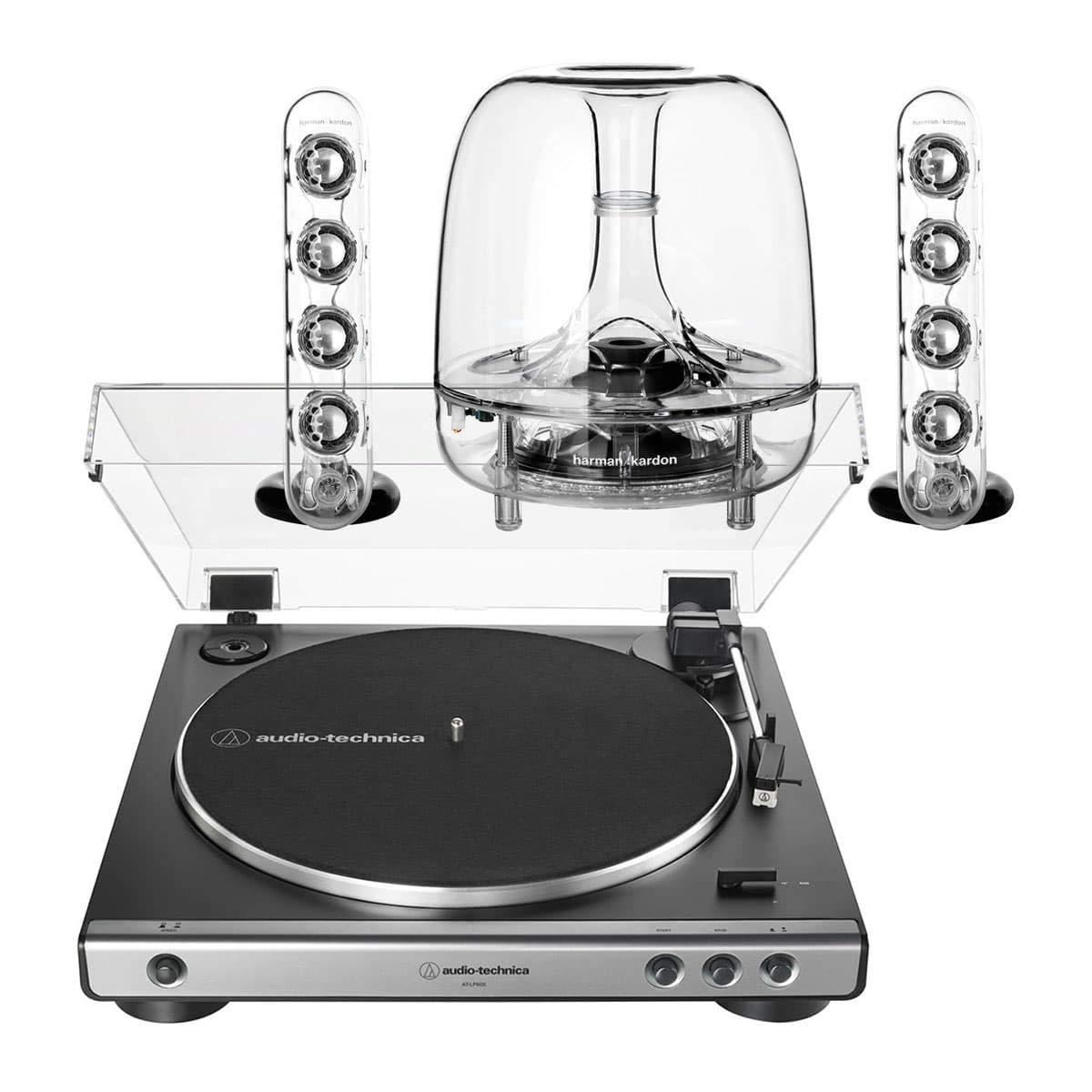 AudioTechnica AT-LP60XGM Sistema de Tocadiscos estéreo Totalmente ...