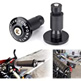 Color : Black XIAOZHIWEN 2pcs Aluminum 7//8 Inch Motorcycle Handlebar Gear Balanced Plug Universal Handle Bar End Grips Slider Motorcycle Accessories