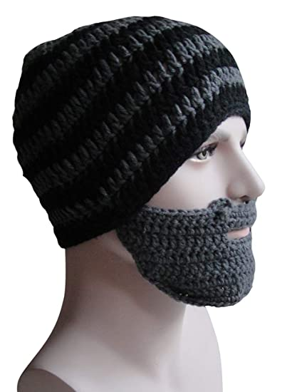 Bess Bridal Crochet Beard Hat Mask Ski Cap Unisex Mustache Warmer Winter  Ski Beanies at Amazon Men s Clothing store  17afa8b11caa