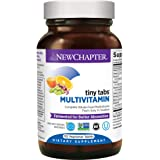 New Chapter Tiny Tabs Multivitamin with Fermented Priobiotics + Whole Foods + Vitamin D3 + B Vitamins + Organic Non-GMO…