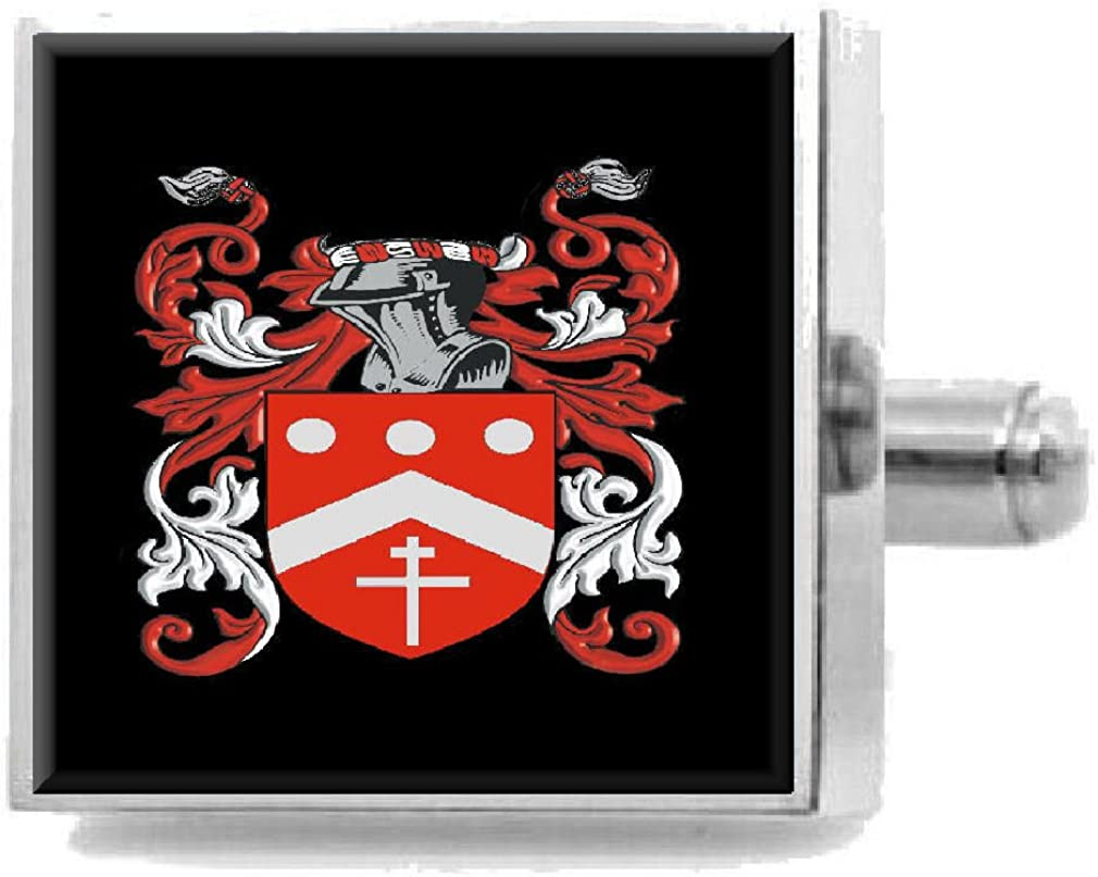 Select Gifts Halcro Scotland Family Crest Surname Coat Of Arms Cufflinks Personalised Case