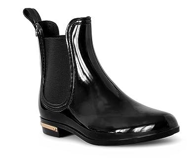 chaussures de sport 38e4d 5da22 Rapidoshop - Bottines de Pluie Caoutchouc Femme 122-8 Bottes Boots