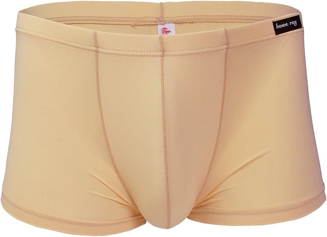 CHICTRY Men's Smooth Soft Classic Boxer Briefs U Convex Shorts Underwear
