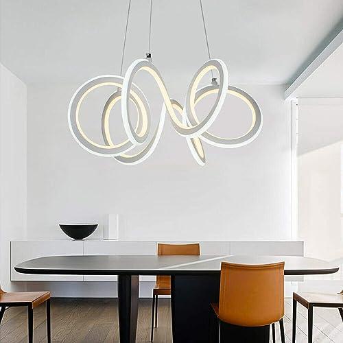 Modern LED Kitchen Island Chandelier Dining Room Chandelier Acrylic Ceiling Light Arc Pendant Light Energy-Saving Close to Ceiling Light 130W