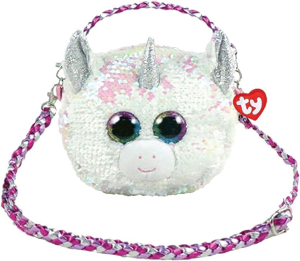 Ty– Bolso bandolera de peluche con lentejuelas, 20 cm, diseño de unicornio, TY95132, multicolor: Amazon.es: Ropa y accesorios
