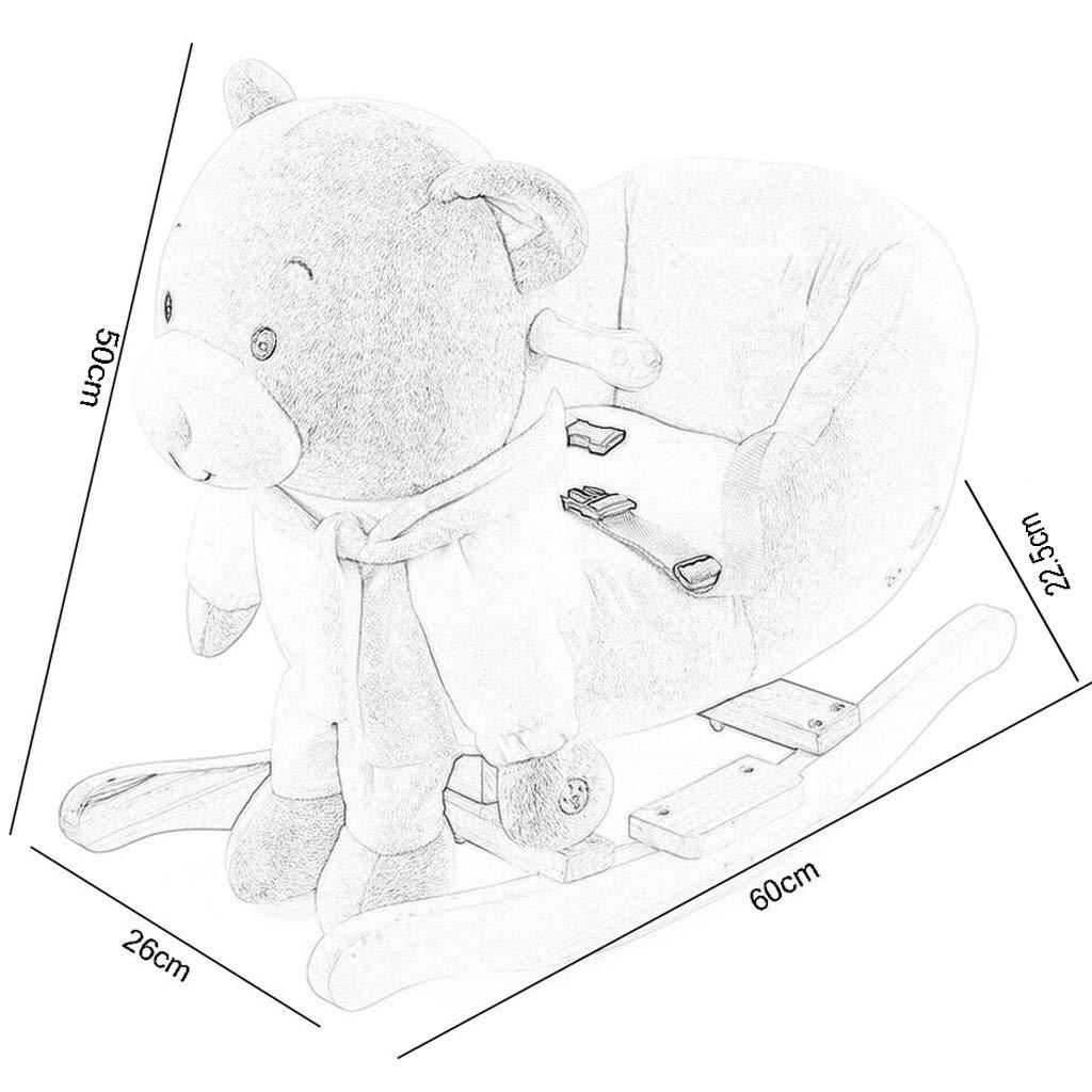 Silla mecedora Caballo Caballo Caballo Mecedora Caballo de Madera para nintilde;os Caballo Mecedora Caballo de Madera Caballo Mecedora bebeacute; Regalo Coche de Juguete 60  26  38 cm FANJIANI (Color : B) 512697