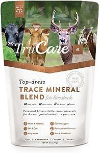 TruCare 4 Top-Dress Trace Mineral Blend for Livestock: Beef Cattle, Dairy Cattle, Deer, Elk, Goats (Zinc, Manganese, Copper, Cobalt)