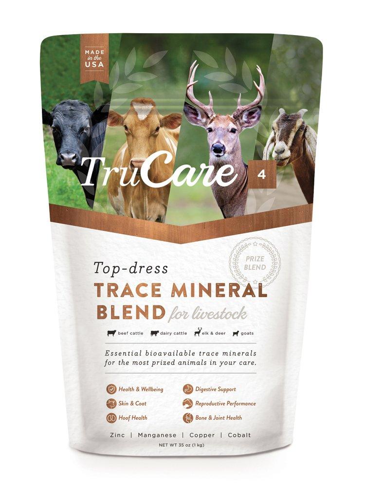 TruCare 4 Top-Dress Trace Mineral Blend for Livestock: Beef Cattle, Dairy Cattle, Deer, Elk, Goats (Zinc, Manganese, Copper, Cobalt) by TruCare