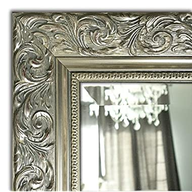 West Frames Bella Ornate Embossed Framed Wall Mirror (34.25  x 52.25 , Silver Gold)