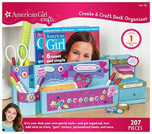 American Girl Crafts Desk Organizer for Girls, 3.5 ''x 14.2'' x 12.5''