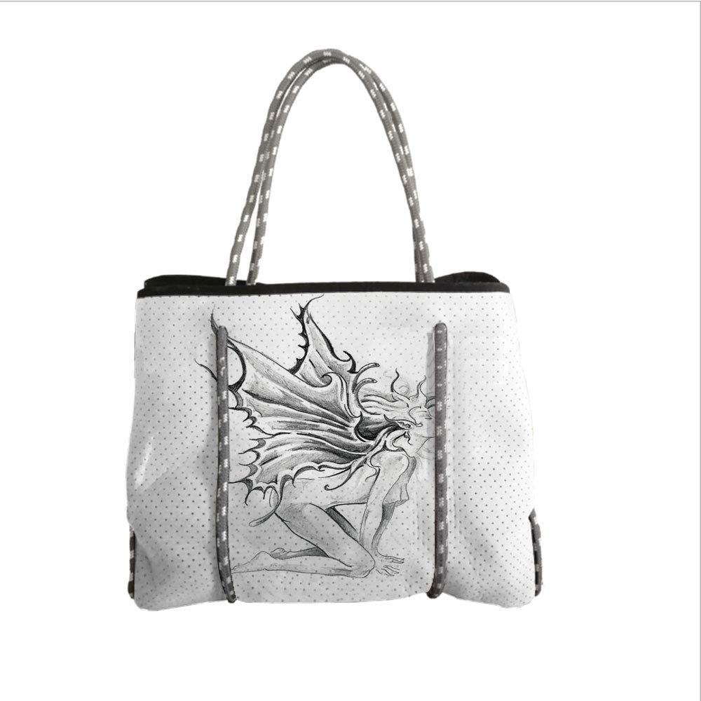 Amazon com neoprene multipurpose beach bag tote bagstattoo