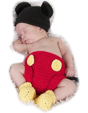 ARAUS Sombrero Ninos de Punto Hecho de Mano con Pantalones + Zapatos para  Bebe Fotografía 373f4eb03ff