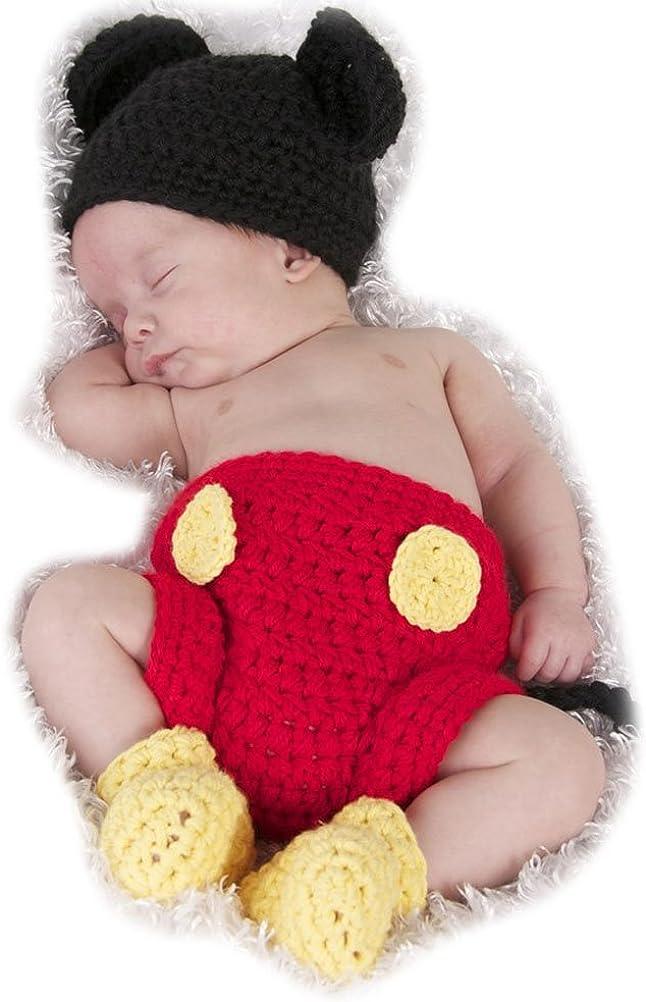 Odziezet Bebé Conjuntos Sombrero Gorro de Punto + Pantalones Disfraz de Animales Unisexo Fotografía Recién Nacido Ropa de Traje