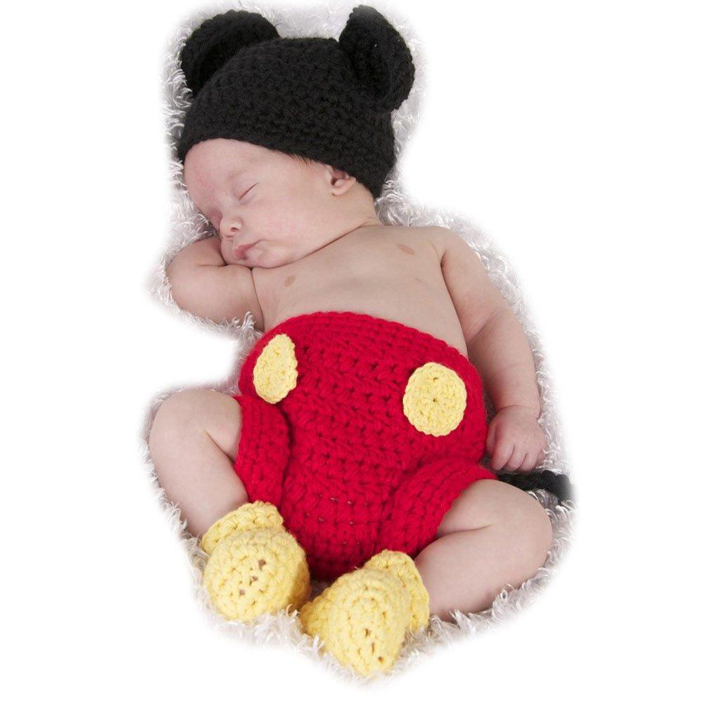 ARAUS Sombrero Ninos de Punto Hecho de Mano con Pantalones + Zapatos para Bebe Fotografía 5800P10