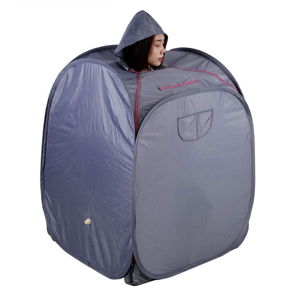 Dampfsauna tragbar 2L Haushalt Aufblasbare Sauna Therapeutische Heimsauna für Entspannung 220V(Grau)