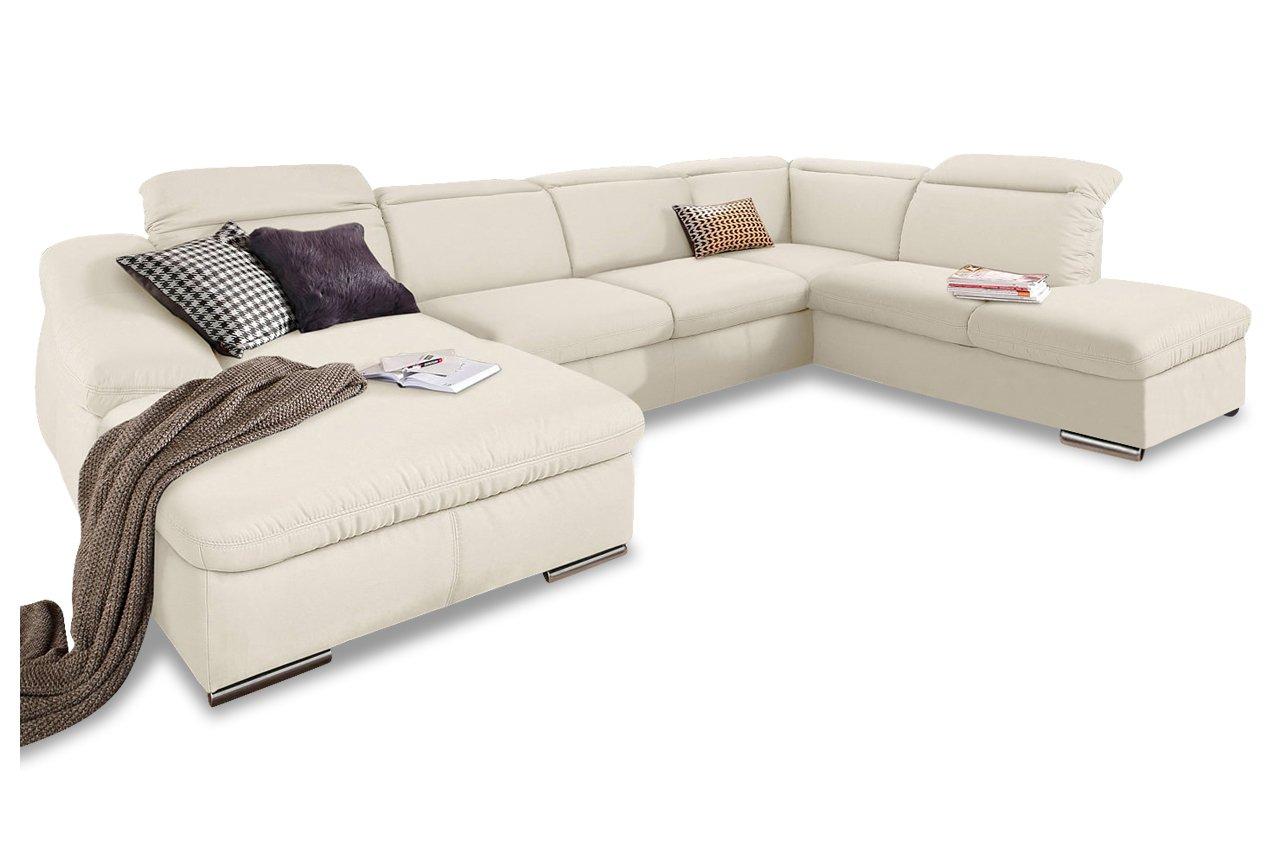 Sofa Wohnlandschaft Marilyn Mit Schlaffunktion Creme Luxus