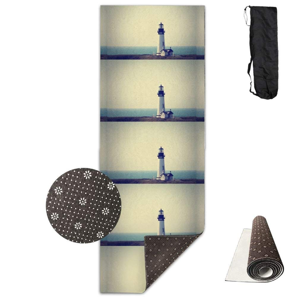 Peaceful Custom Lighthouse Deluxe,Yoga Mat Aerobic Exercise Pilates Anti-slip Gymnastics Mats