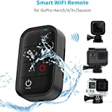 TELESIN Waterproof Smart WIFI Remote Control Set Camera Controller with Charging Cable and Wrist Strap for GoPro Hero 5, Hero 4,  Session, Hero 3 plus and Hero LCD WIFI Remote Accessory Kit