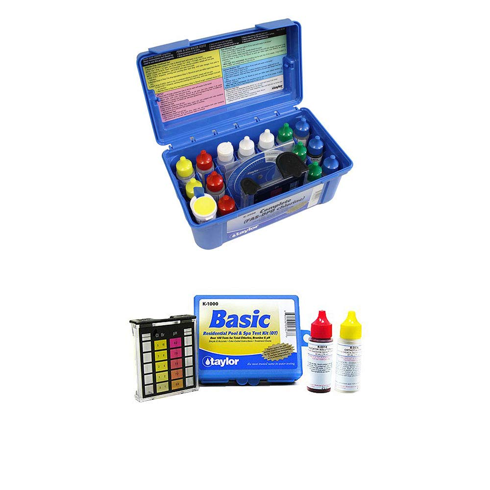 Taylor K2006 Complete Swimming Pool Chlorine Test Kit w/Additional Basic Kit by Taylor