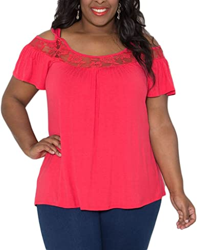 VEYCO - Camisas - para mujer rojo Rosa Roja XX-Large: Amazon.es: Ropa y accesorios