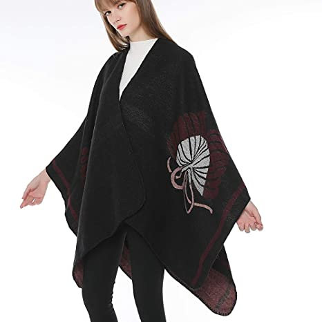 Amazon.com: Womens Coats Winter Clearance!Besde Womens Fashion Casual Warm Lightweight Outwear Bohemia Tassels Knitted Cashmere Ponchos Shawl Elegant ...
