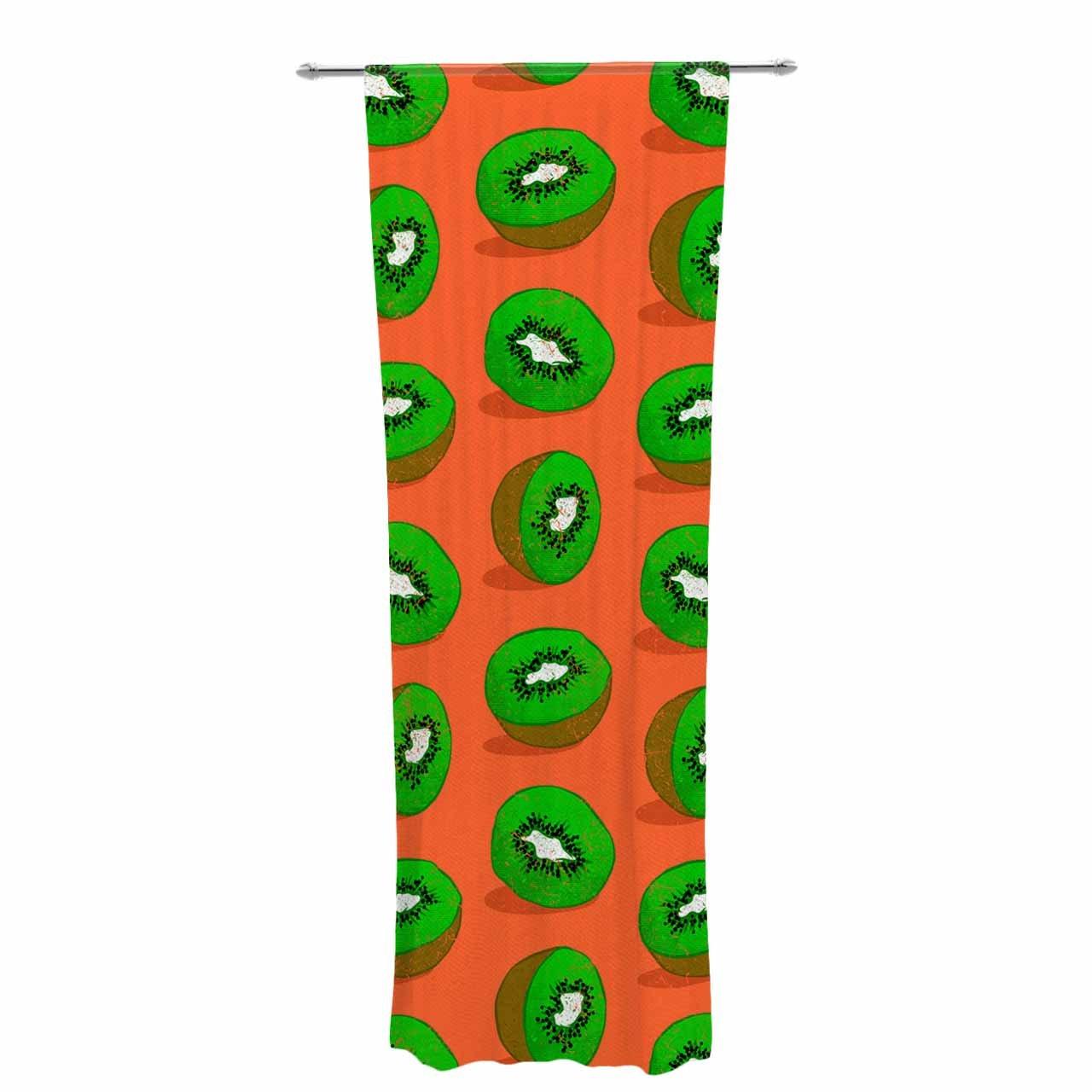 2 x 3 Floor Mat Kess InHouse Evgenia Kiwifruit Orange Green Decorative Door