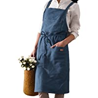 Cotton Kitchen Apron Long Cooking Aprons for Adult with 3 Pockets Professional Cooking Apron Restaurant and Home Kitchen…