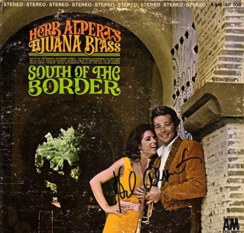 Herb Alpert Autographed South Of The Border Album Cover AFTAL UACC RD COA