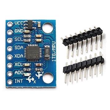 hiletgo GY-521 MPU-6050 3 Axis giroscopio + acelerómetro módulo para Arduino (