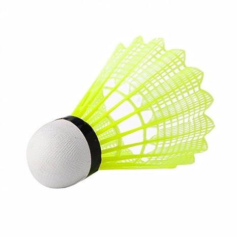 Brussels08 6Pcs Nylon Feather Shuttlecocks Sport Training High-performance Badminton Balls Set Indoor Outdoor Sports Hight Speed Badminton Birdies Balls