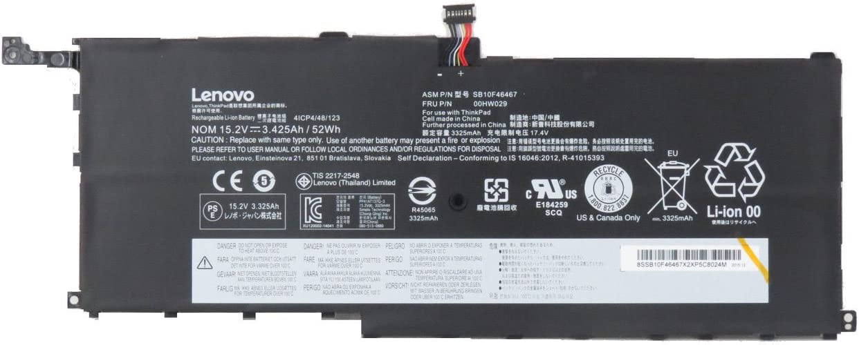 Battery For Lenovo X1 Yoga Carbon 3.425Ah 52Wh 00HW029 New Genuine