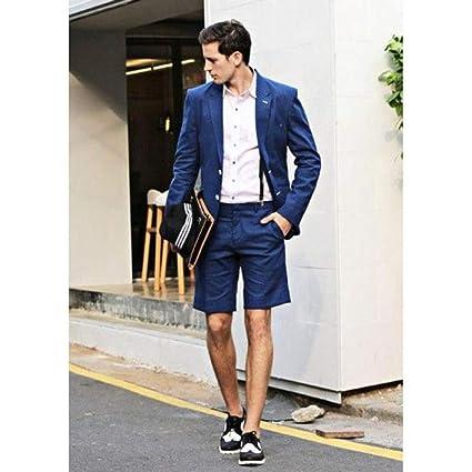 GFRBJK Abrigo Pantalón Diseños Azul Marino Hombres Traje ...